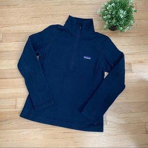 PATAGONIA Microfleece pullover 1/2 zip navy XS